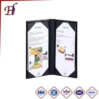 4pages pu Leather hotel Menu Folders Food List Menu Covers Coffee Restaurant Menu holder