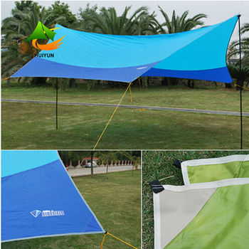 Waterproof Large Beach Shelter Canopy Sun Shade Sail Uv Protection