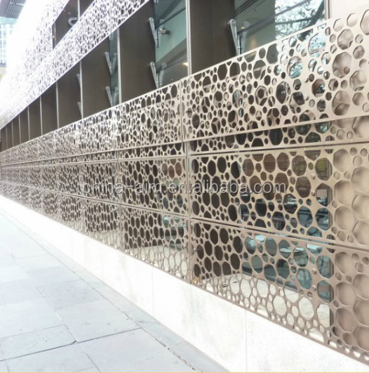 Architectural Exterior Perforated Metal Facade/perforated Metal ...