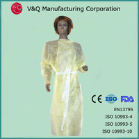 Healthcare products PE coated disposable isolation gown