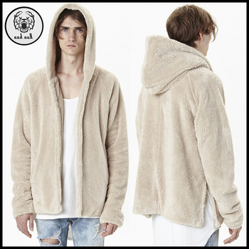 33fb7194d Custom Men Sherpa Fleece Hoodie Zip Up Hoodie With Side Slit ...
