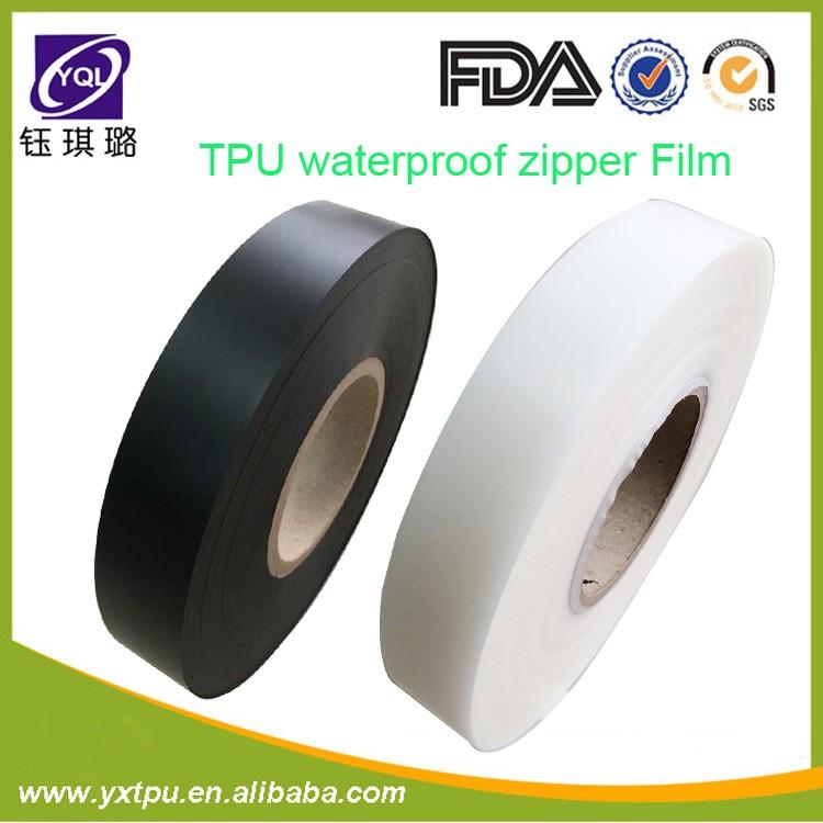 Waterproof Black TPU Film for Seamless Zipper