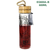 EG600 600ML/20OZ New product easy taking single wall voss glass bottle with bamboo lid
