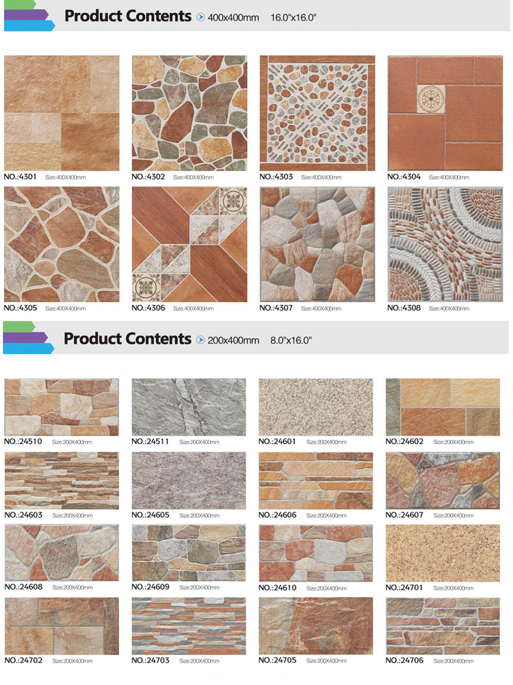 Vintage Exterior Facade Tile Ceramics For External Wall