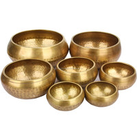 HENGTAI Meditation Bowl Made of Seven Metals Type and Art & Collectible Use Handmade Singing Bowls