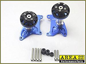 Area 22 2014/2015 Honda MSX125 Grom CNC Engine Crash Protectors (Blue)