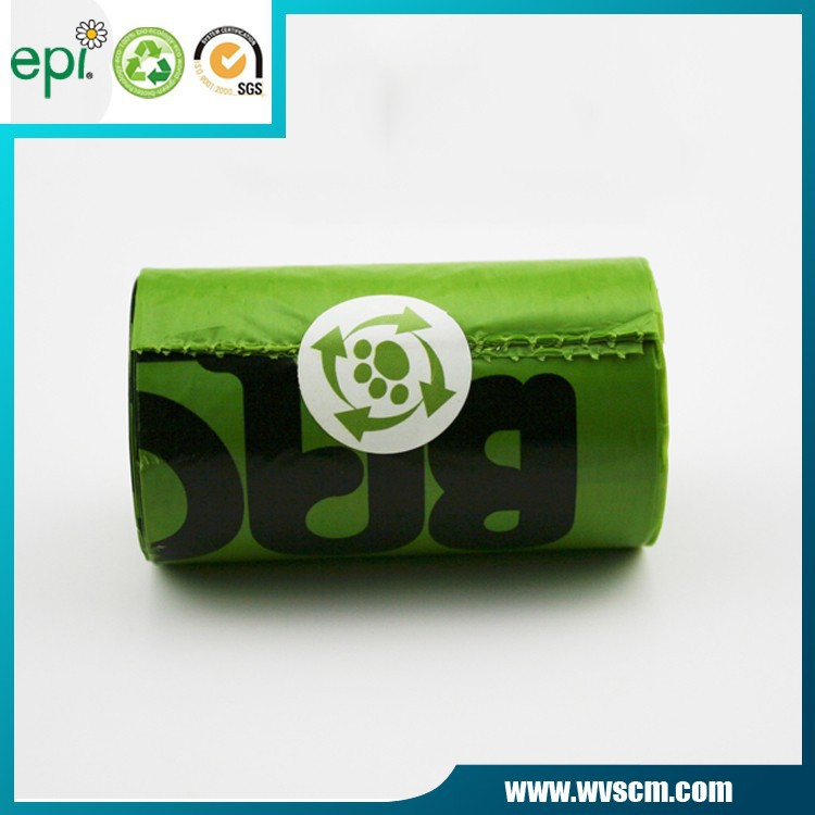 bio degradable roll plastic bag dog waste bag 8 rolls per inner box