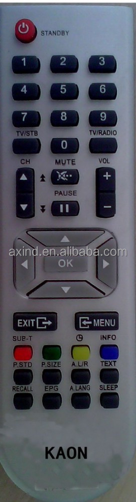 TV REMOTE CONTROL FOR MODEL KAON YK30130, FOR EGYPT MARKET, ANHUI FACTORY