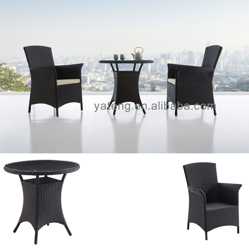 Modern furniture coffee shop party garden plastic tables and chairs