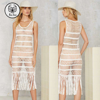 Full Sexy Beach Crochet Fringe Casual Mini Dress 2016 Summer Buy
