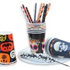 Customize Halloween decoration party supplies Pumpkin/Skeleton/Witch/Bat printing disposable paper cups