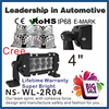 Factory price 4 INCH 24W LED driving work light bar,off road 4x4 accessory truck 4wd SUV,UTV,240w LED light bar