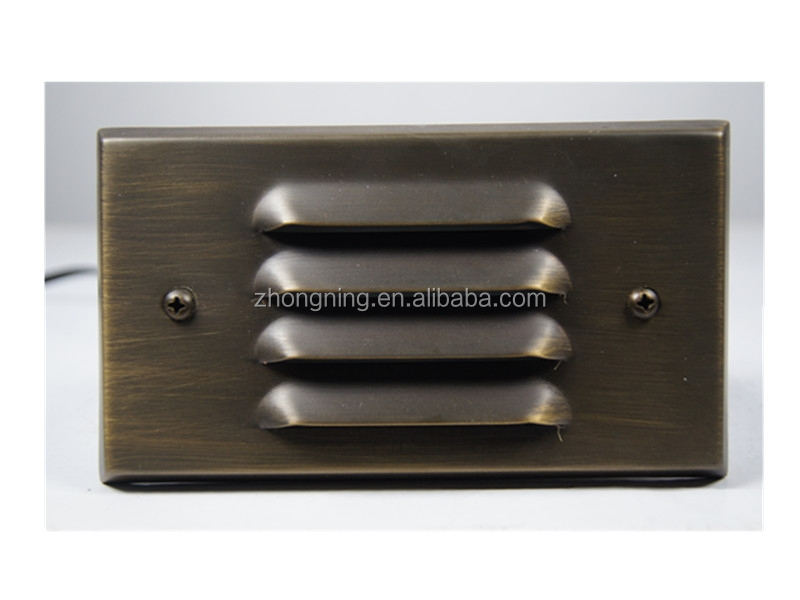 led outdoor brass step wall mounted light
