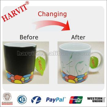 Ceramic Tea Cup Heat Sensitive Color