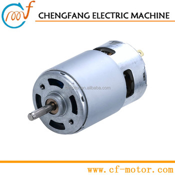 Electric Dc Motor Brushes 12v With Dual Shaft Or Double