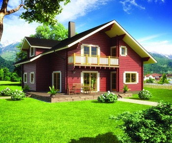 Low cost large villa designs modern wood house russian prefabricated wooden house for sale