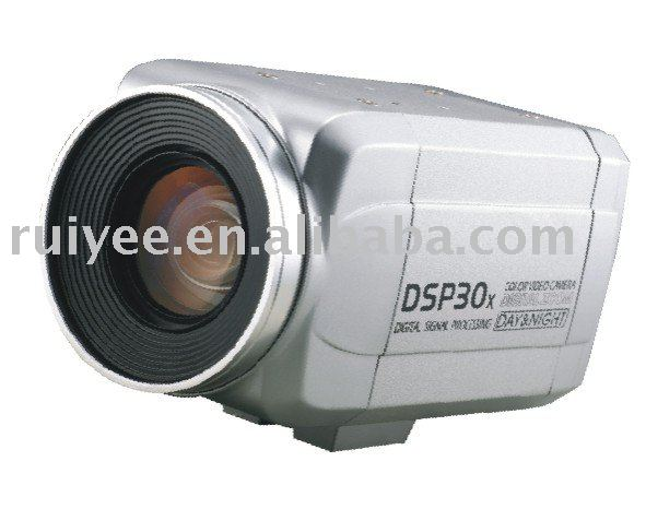 RY-30X2007 High Resolution 700TVL DSP 30x Optical Zoom Analogy CCD Box Camera
