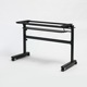 Professional Training Session Folding Table Metal Black Frame Legs with Melamine Board