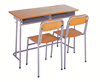 Environment-friendly good school library classroom furniture student education study desk and chair for school SF-08D