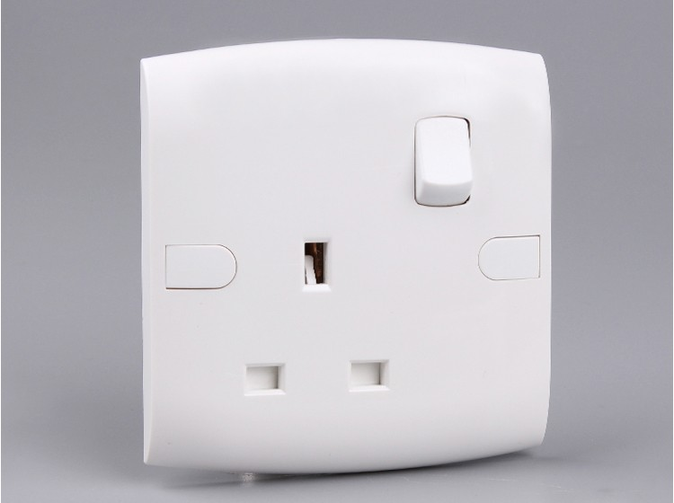 Function One Way,1 Gang 13a The Electrical Switch Socket,3-pin ...