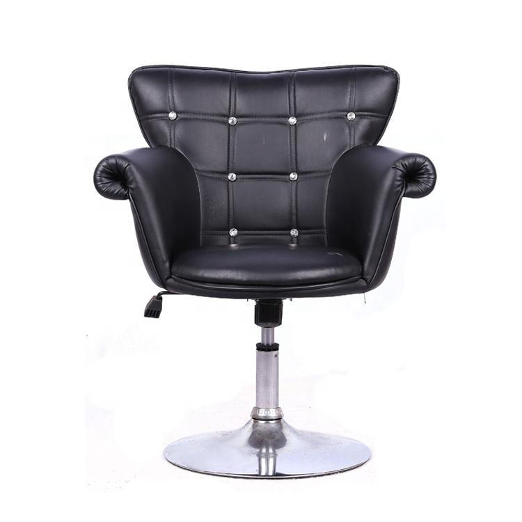 Cadeira giratória preta para salão de cabeleireiro com bomba, móveis de salão, móveis comerciais