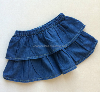 0bb311f61cd7 Cheap 100% Cotton Pleated Soft Baby Girls Mini Skirt Baby Denim ...