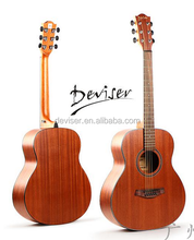 "2017 New design traveling 36"" popular sapele plywood acoustic guitar"