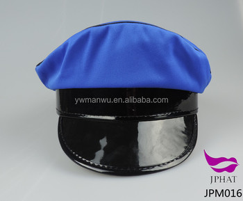 No pattern of blue police officer hat uniform hats caps police hat diy caps e2fb6f9d1d4