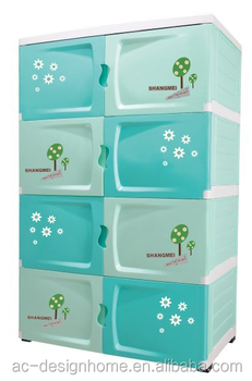 Pink,Turquoise Pp Plastic Storage Cabinet W/8 Drawers & Wheels ...