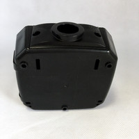 Black Custom Injection Plastic Box For Gas And Fire Detector