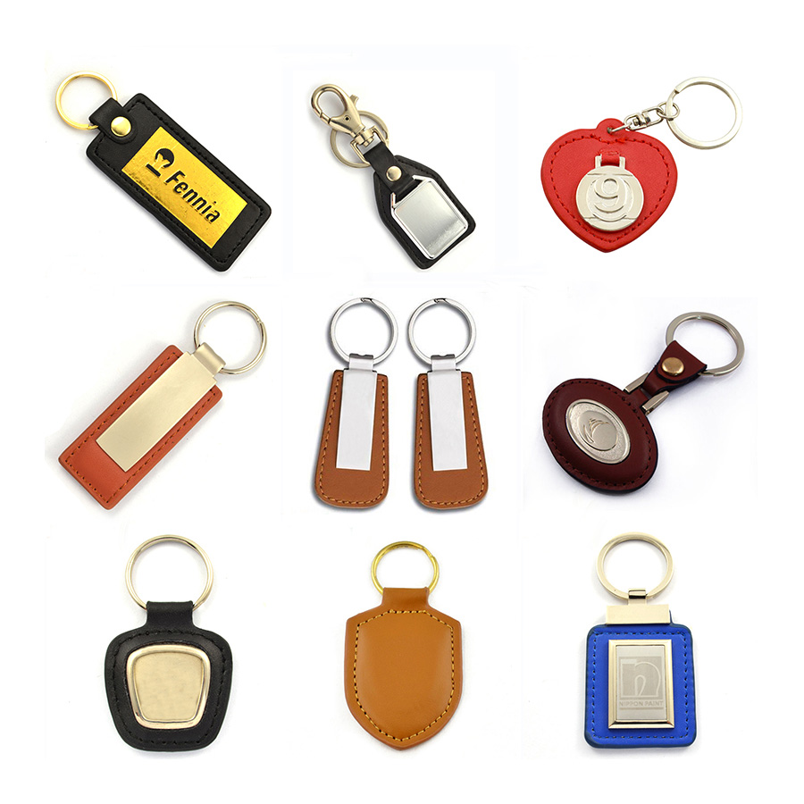 Factory Wholesale High Quality Cheap Blank Metal Keychain Clips