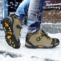 Sport Climber Winter ice crampon shoe spikes, anti-slip shoe covers with 10 spikes