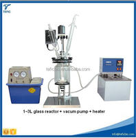 Jacketed glass lined autoclave reactor 80L Double Layer Glass Industrial Biodiesel Reactor with PTFE Sealing