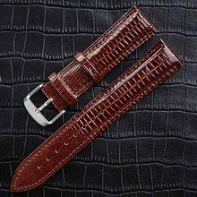 Модные часы ремешок кожаный браслет для часов аксессуары Ящерица шаблон контактный ремень с пряжкой для Топ люксовый бренд женские часы(Китай)