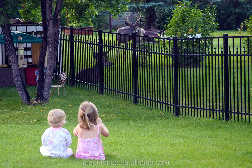 No Dig Powder Coated Steel Fence Panel Common 40 In X 49