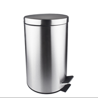 Bathroom Household Cleaning Tools Accessory Stainless Steel Square Foot Pedal Trash Can Waste Bins 3L
