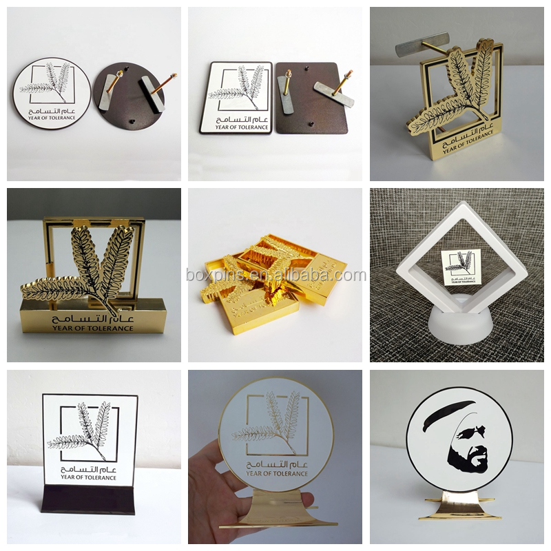 Hot Selling Soft Enamel Emirates Sheikh Zayed Metal Pin Badge UAE