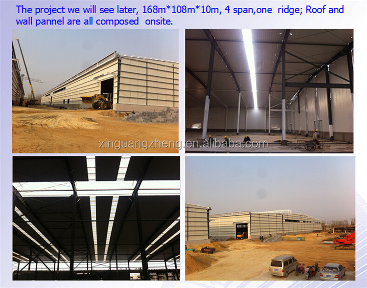 Prefab light steel structure logistics warehouse