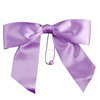 Customized gift wrapping purple polyester pre tied flat ribbon bows with elastic loop