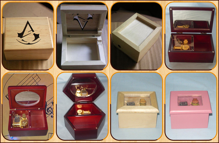 Cheapest price plain wooden mini furniture packing box