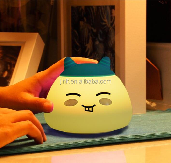Portable Cute aninaml design Silicone Led baby Night Light,Touch Sensor Led Table Lamp,Rechargeable Night Lamp