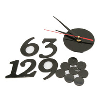 Made in China wholesale manufacture high quality fashion EVA DIY arabic numerals wall clock