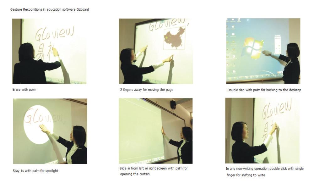 Gloview Beste interactieve whiteboard touchscreen draagbare whiteboard VS SMART Board interactive whiteboards