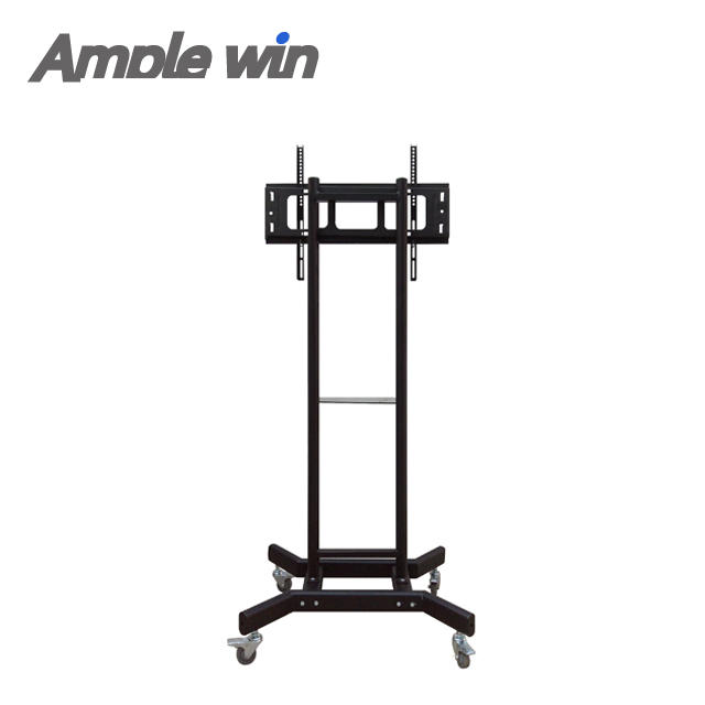 New design television Display Mobile LCD Adjustable TV Monitor Stand Cart With Wheel