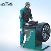 Car inspection machine wheel balancer