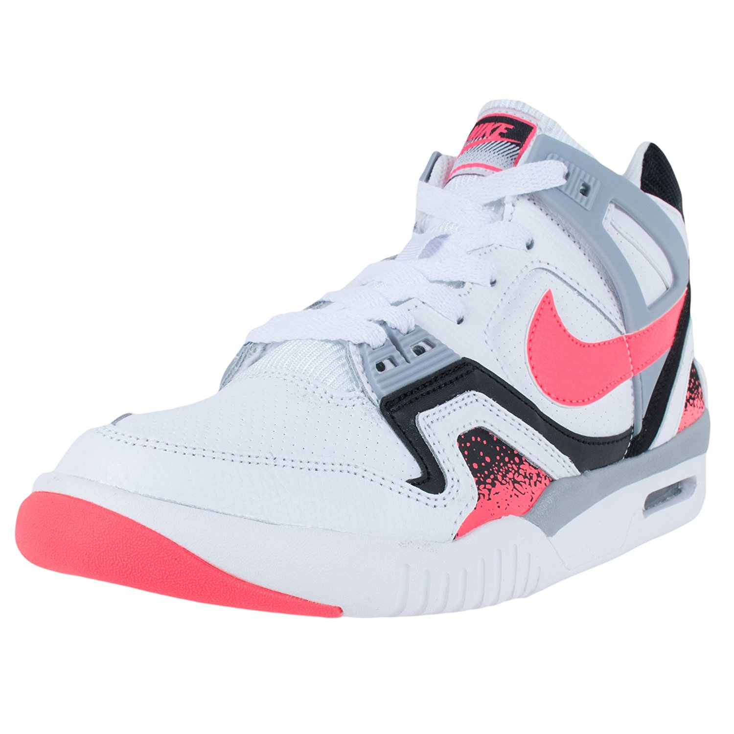 4c9aac2fbb31 Get Quotations · NIKE BOYS AIR TECH CHALLENGE 2 GS TENNIS SHOES WHITE HYPER  PUNCH 654435 101