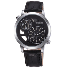 SKONE 9248 Time Zone quartz Men Skeleton wrist Watch hot sale quartz watches for wholesale