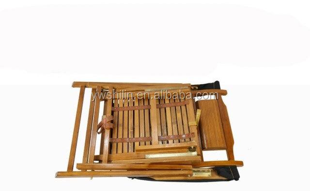 Chaise De Jardin En Bambou Pliante Inclinable Canne