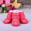 JML new fashion wholesale dog accessories PU warm waterproof winter snow boots