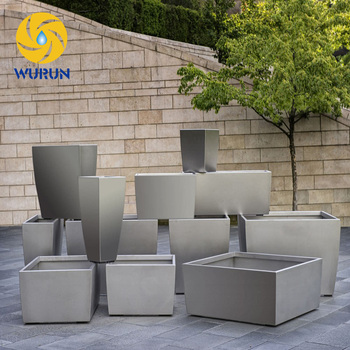 Customized Different Shapes Flower Planters Wholesale Stainless Steel  Flower Planters Pots